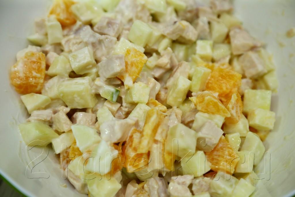 фитнес-салат с апельсинами и яблоками 3