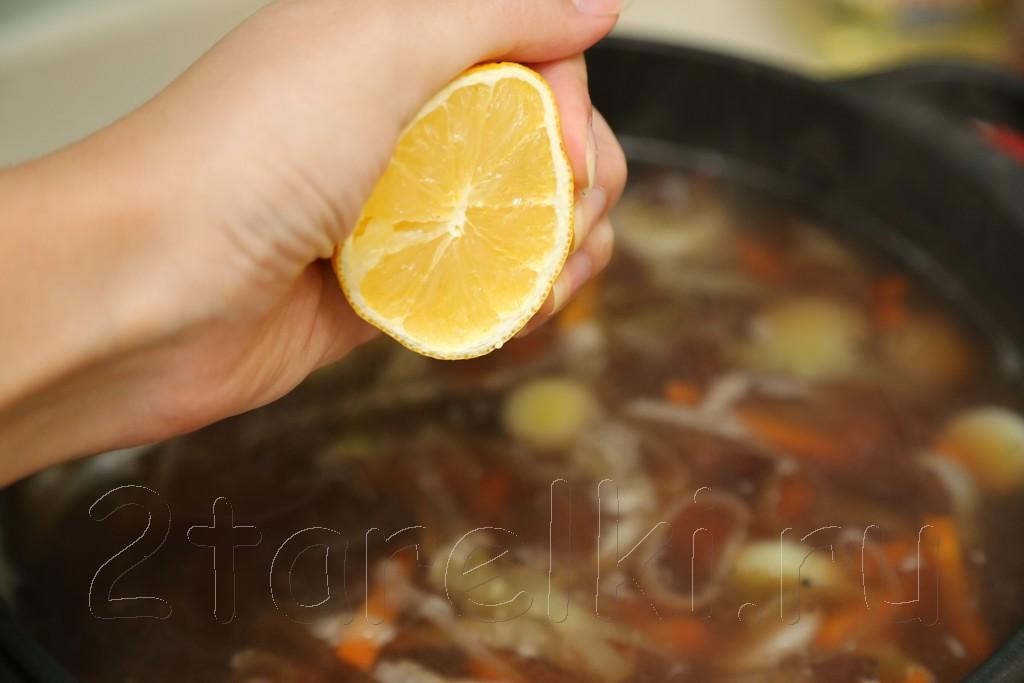 Фасолевый суп из рульки 8