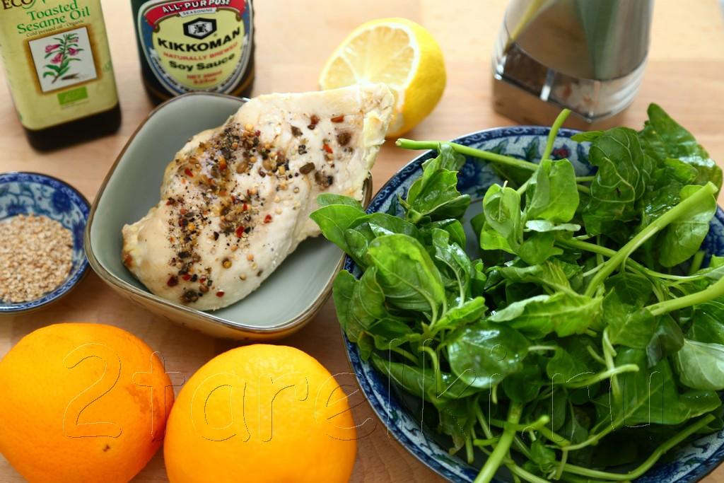 Салат из курицы со шпинатом 1