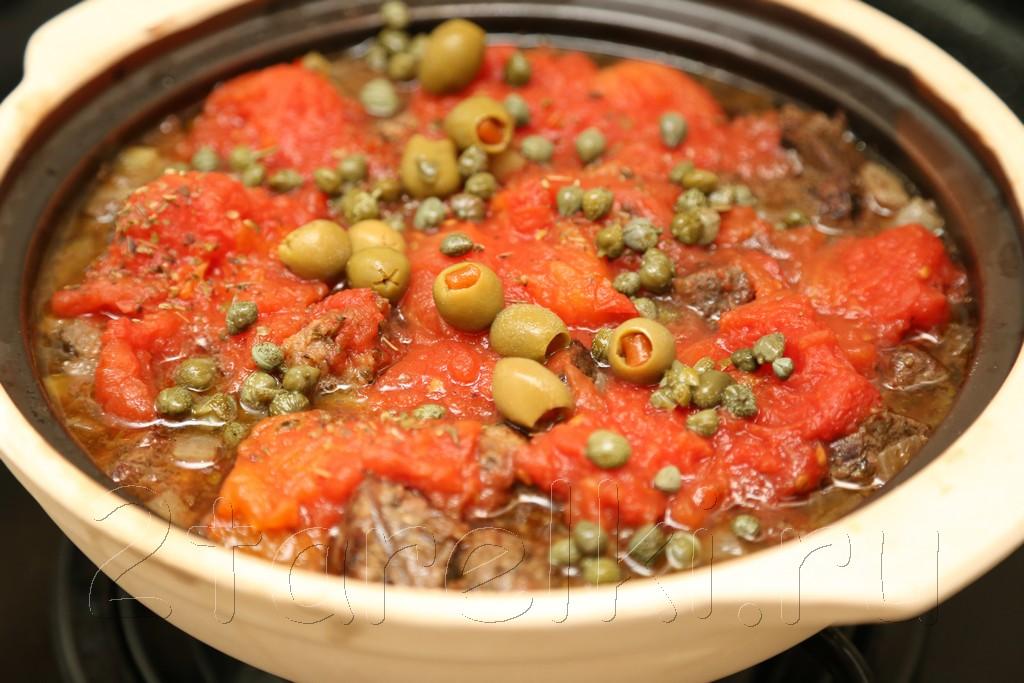 Тушеное мясо в горшочке по-португальски 10
