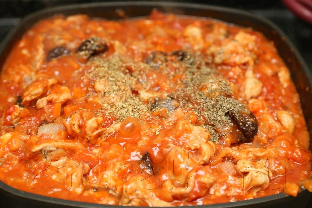 Жаркое из курицы с черносливом по-гречески 16