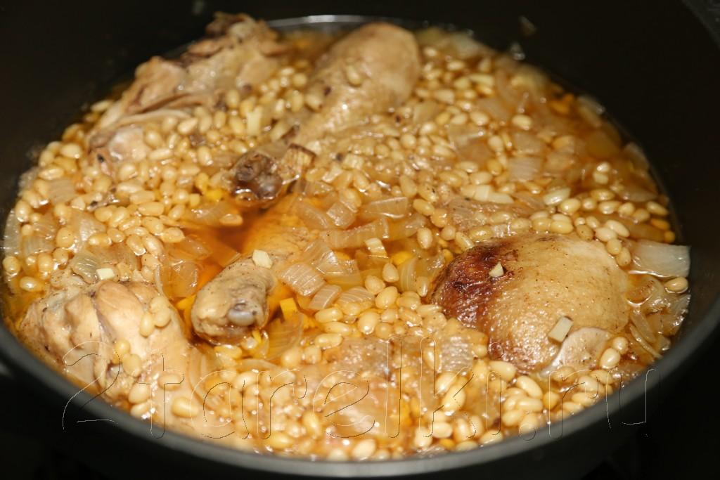 """Курица """"по-сицилийски"""" - с кедровыми орешками в вине 9"""