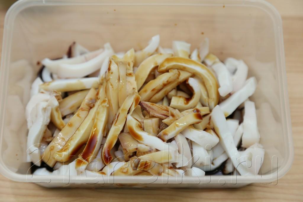 Острый салат с кальмарами по-корейски 4