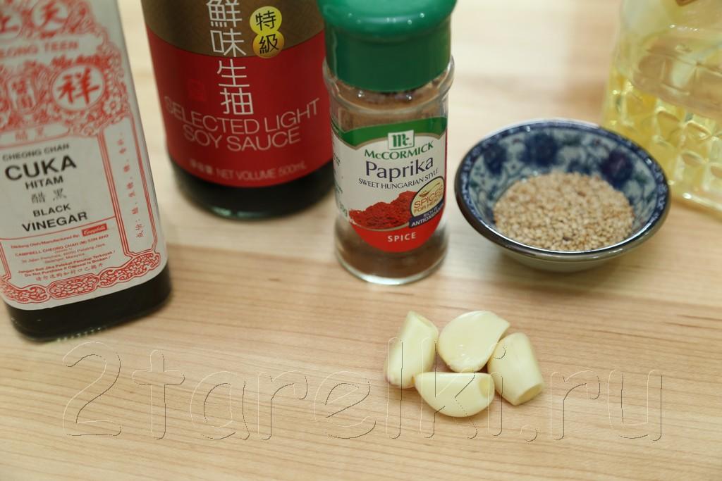 Острый салат с кальмарами по-корейски 2