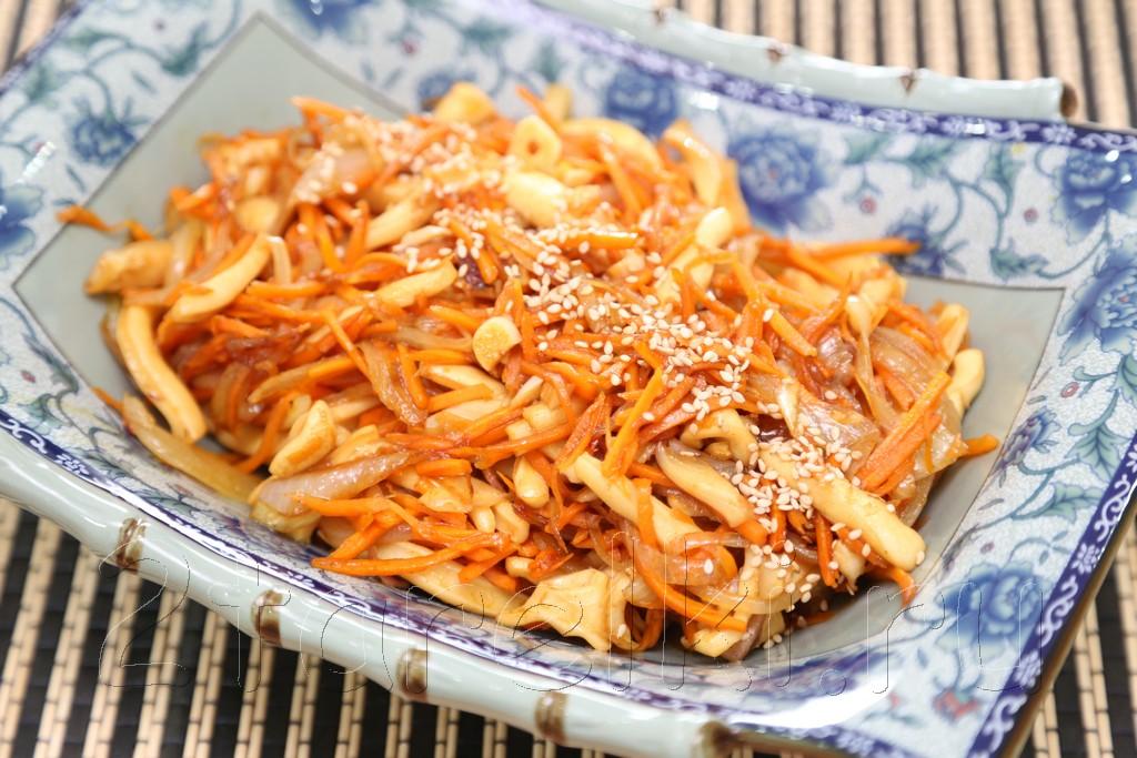 Острый салат с кальмарами по-корейски 12