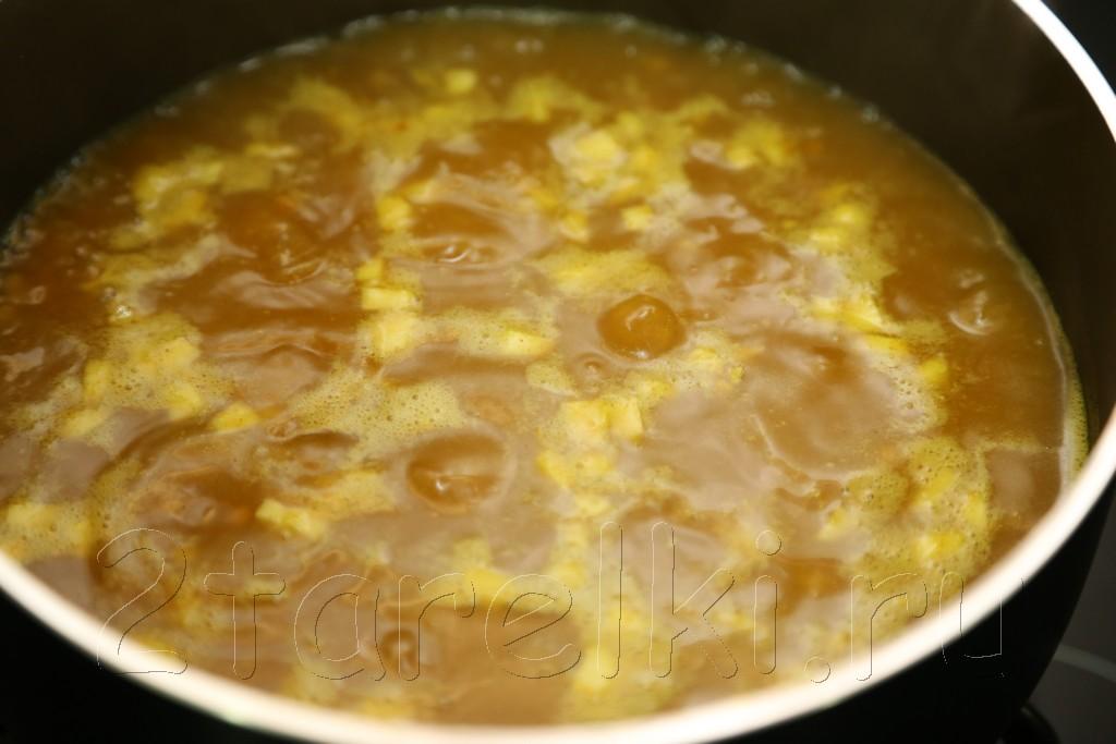 Суп из чечевицы с карри 5
