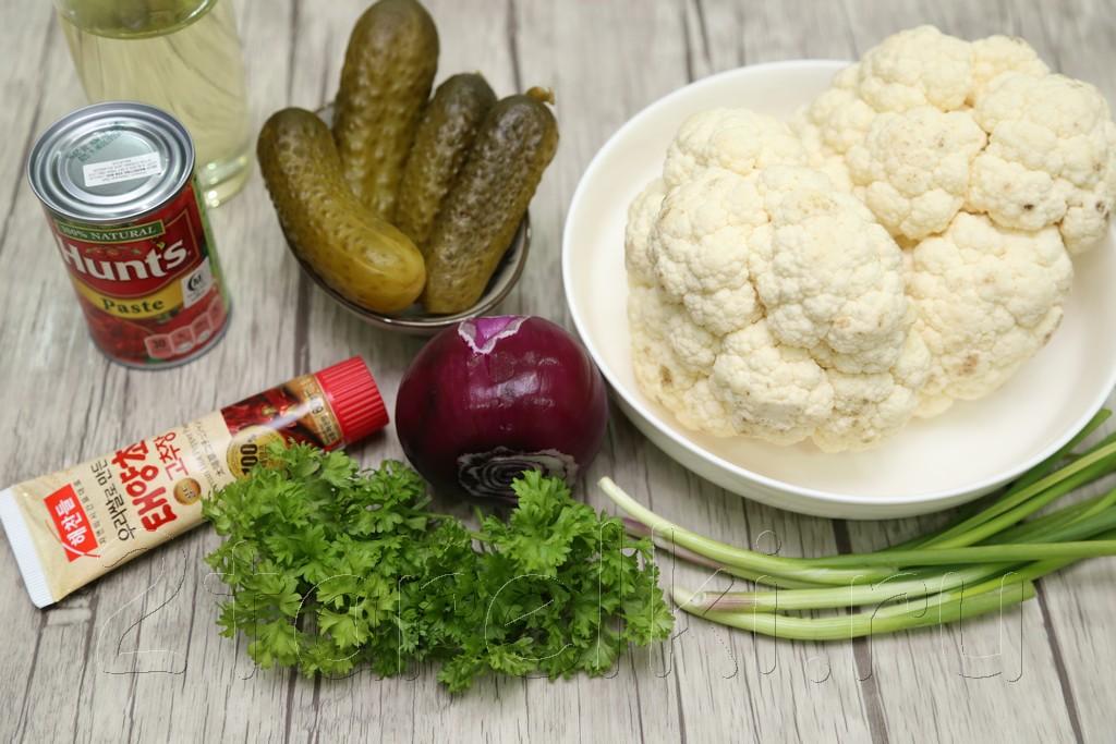 Салат-закуска из цветной капусты 1