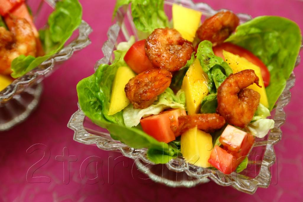 "Салат с манго и креветками ""Sunset"" 8"