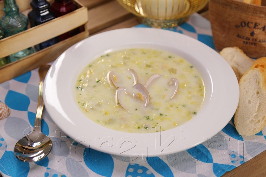 Сливочный суп с моллюсками