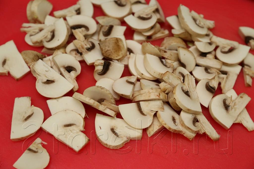 Жаренная с грибами капуста 6