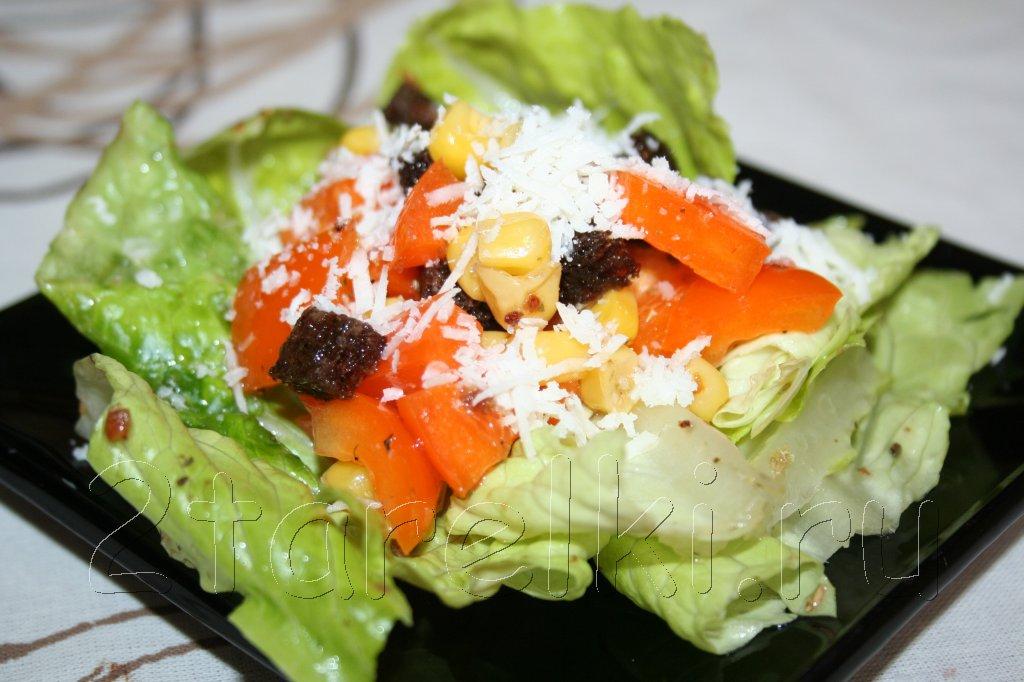 салат с ржаными сухариками