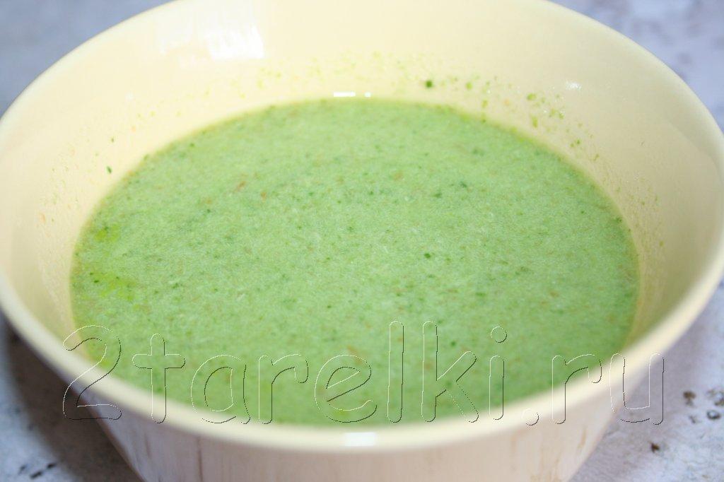 крем-суп со шпинатом и индейкой