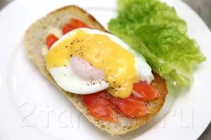 Яйца Бенедикт с семгой