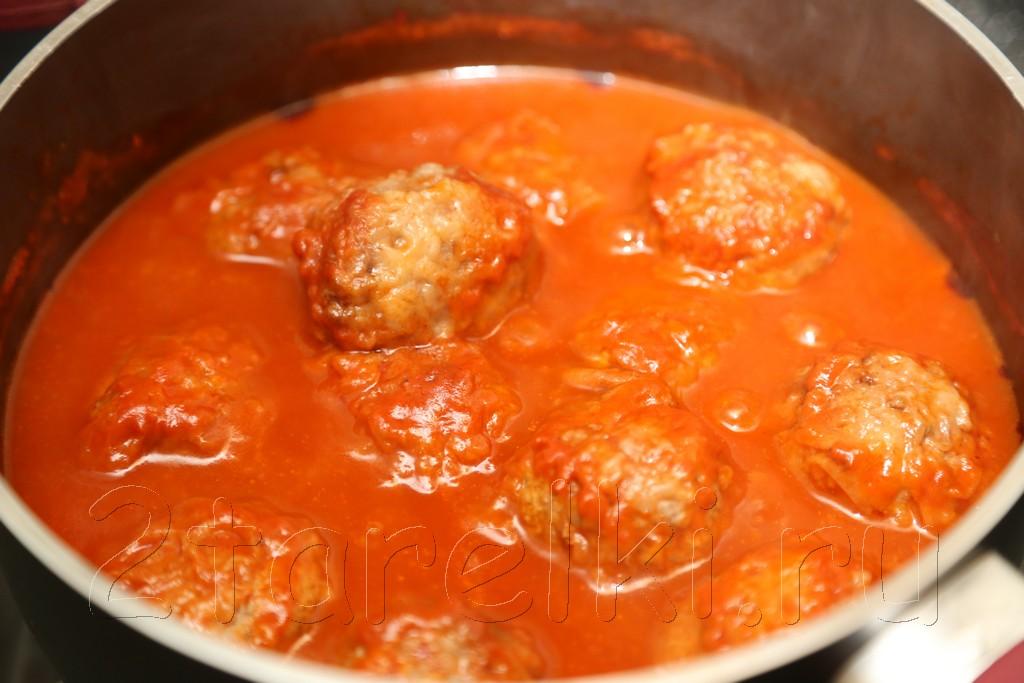 тефтели из говядины в томатном соусе 7