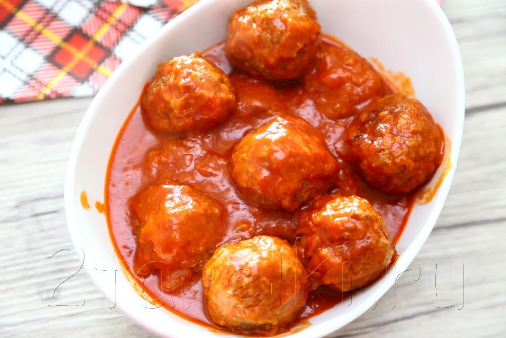 тефтели из говядины в томатном соусе 8
