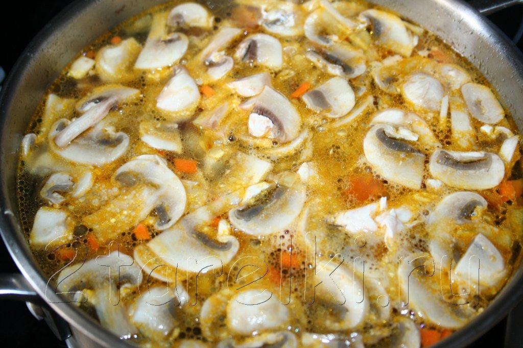 куриный суп с грибами пошаговые рецепт