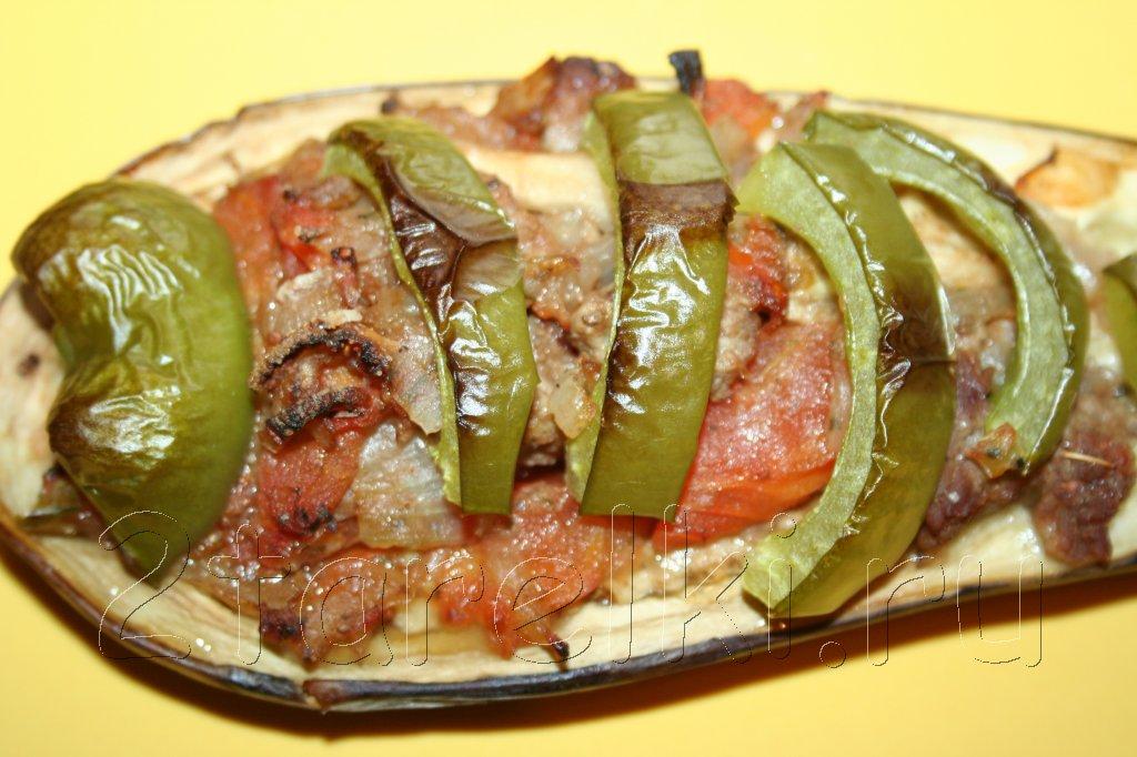 лодочки из баклажанов с рубленым мясом