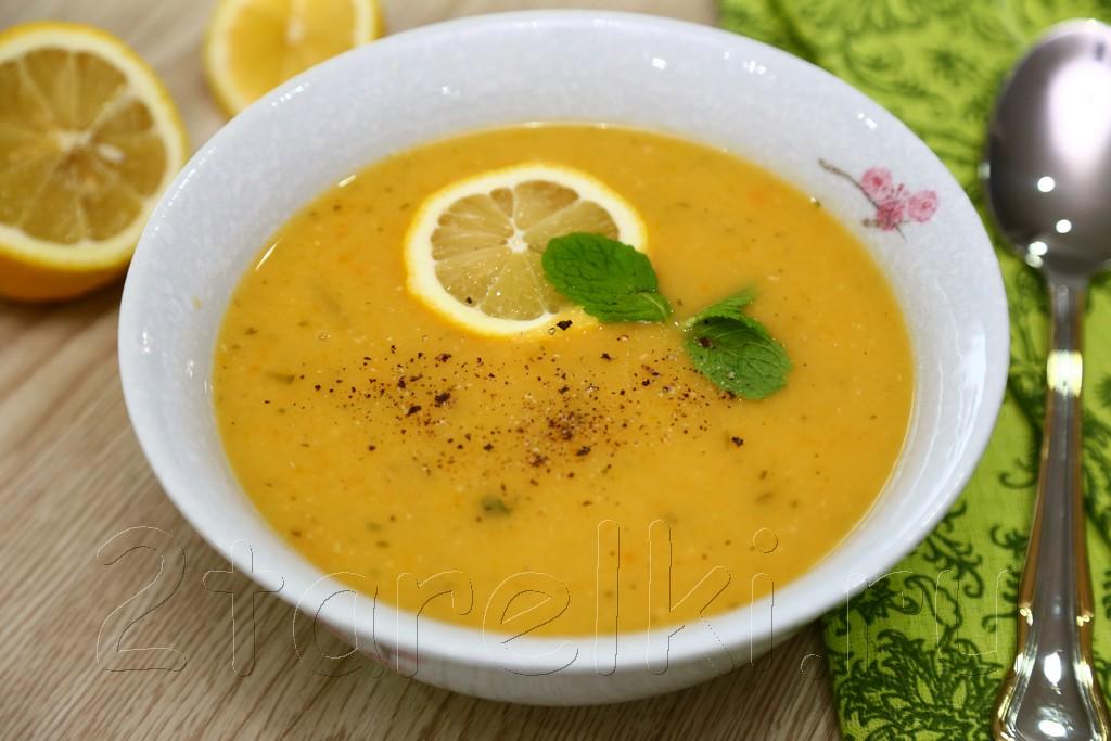 Чечевичный суп с мятой и лимоном 9
