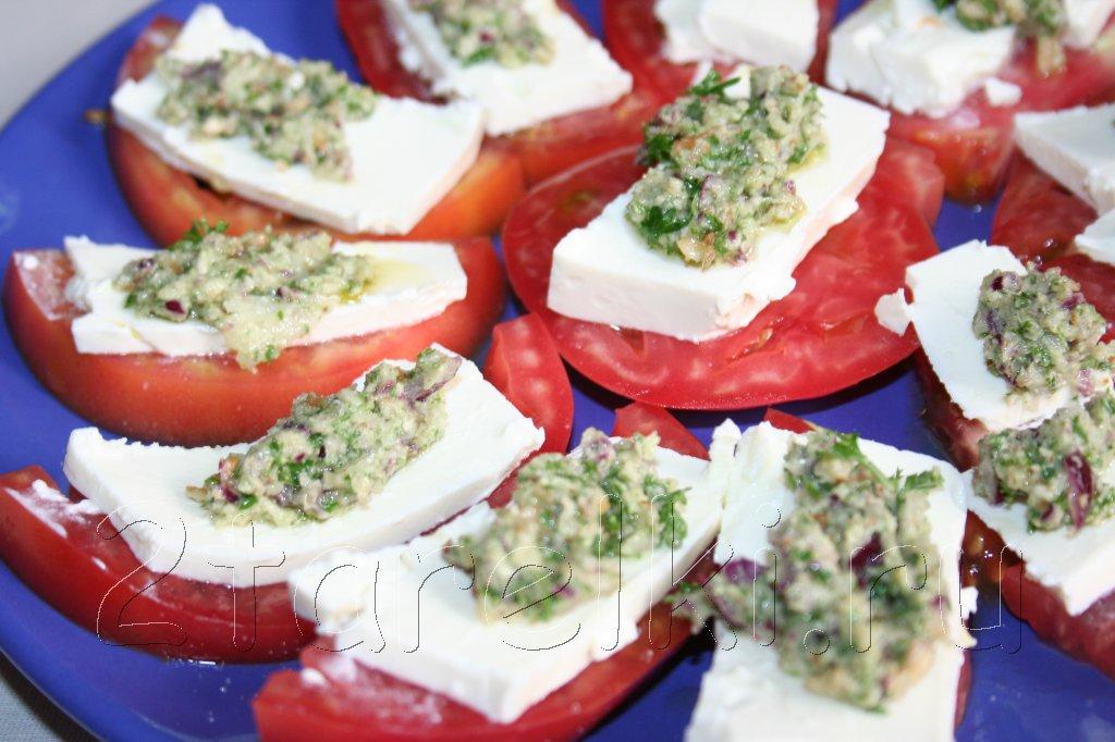 помидоры по-гречески с брынзой