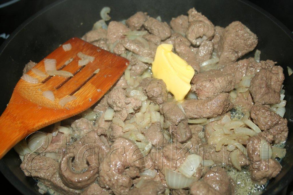 Печень куриная жареная с луком в сметане рецепт 81