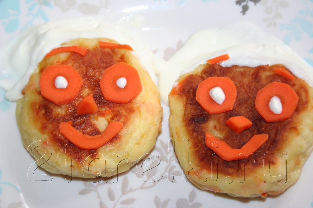 яблочно-морковные сырники