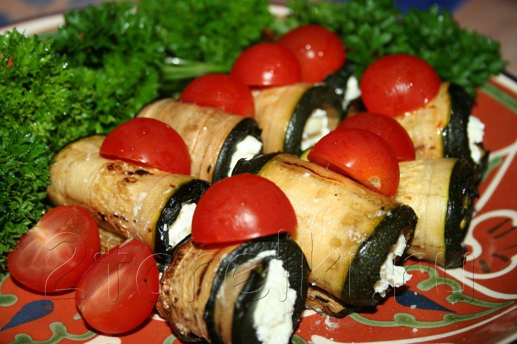 кабачки-гриль с творогом