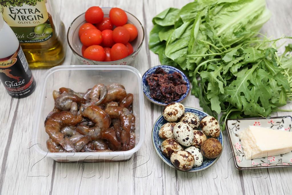 Салат из рукколы и креветок 1