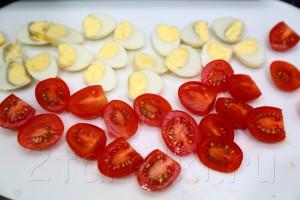 Салат из рукколы и креветок 3