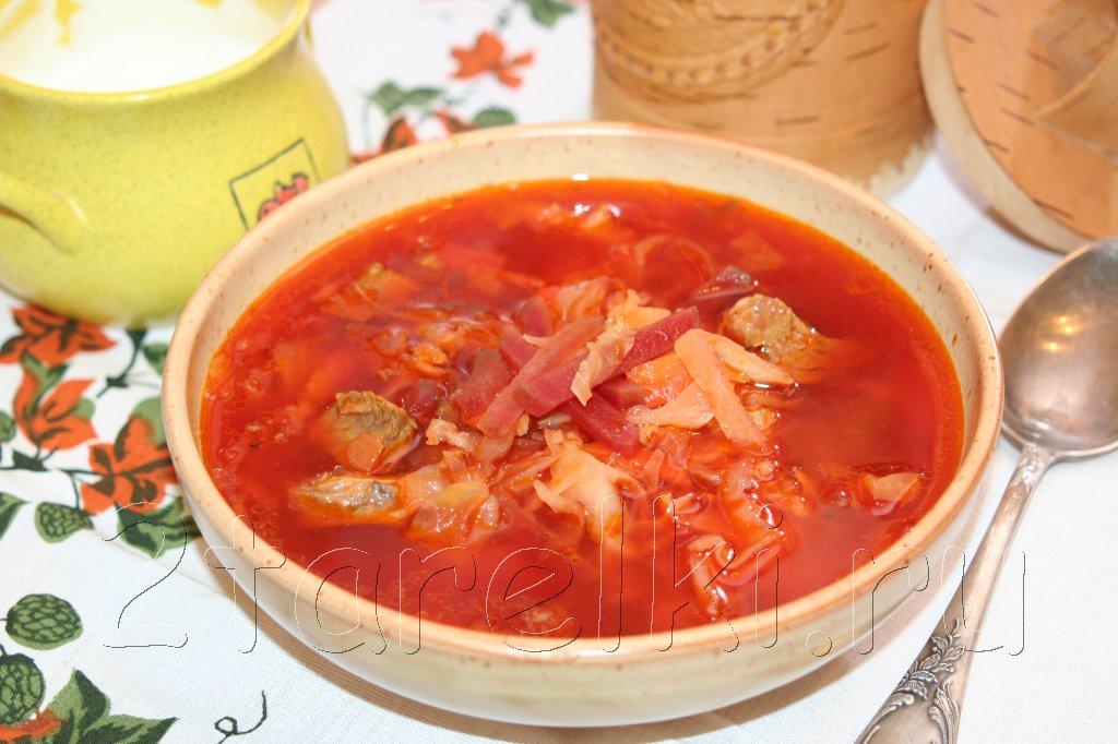 как приготовить вкусный украинский борщ из говядины