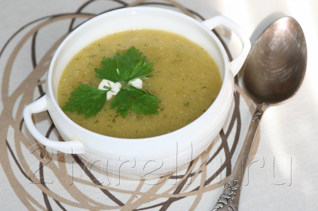 суп-пюре из кабачков и чечевицы