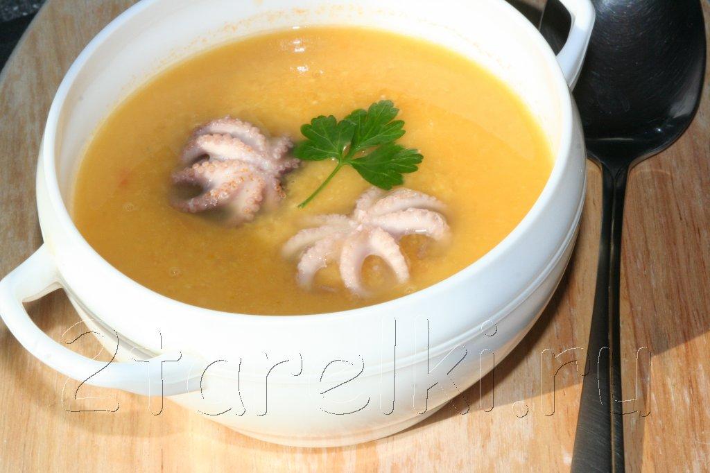 суп-пюре с осьминогами