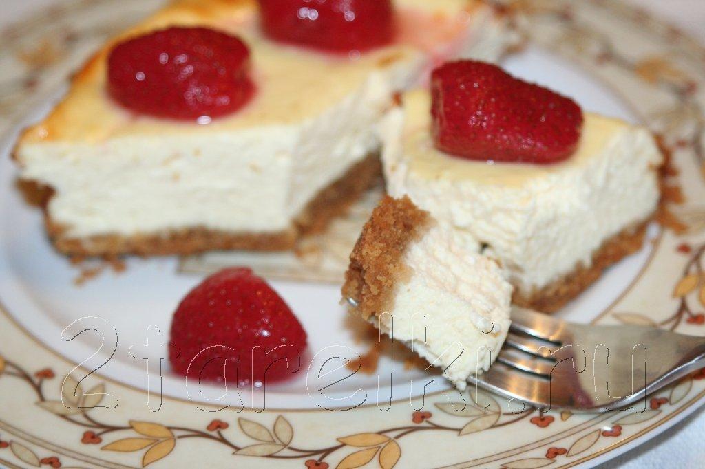 Пирог с творогом и клубникой выпечка