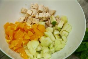 фитнес-салат с апельсинами и яблоками 2