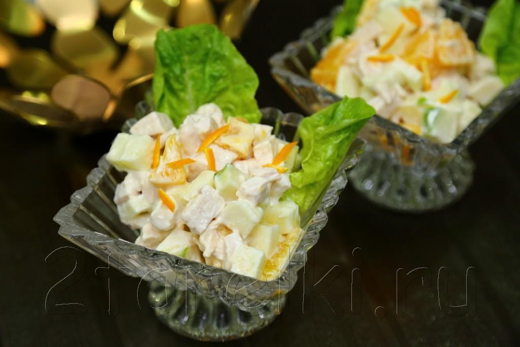 фитнес-салат с апельсинами и яблоками
