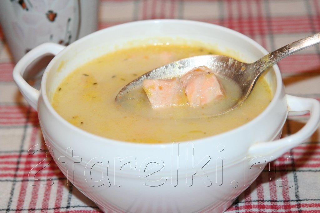 крем-суп с семгой
