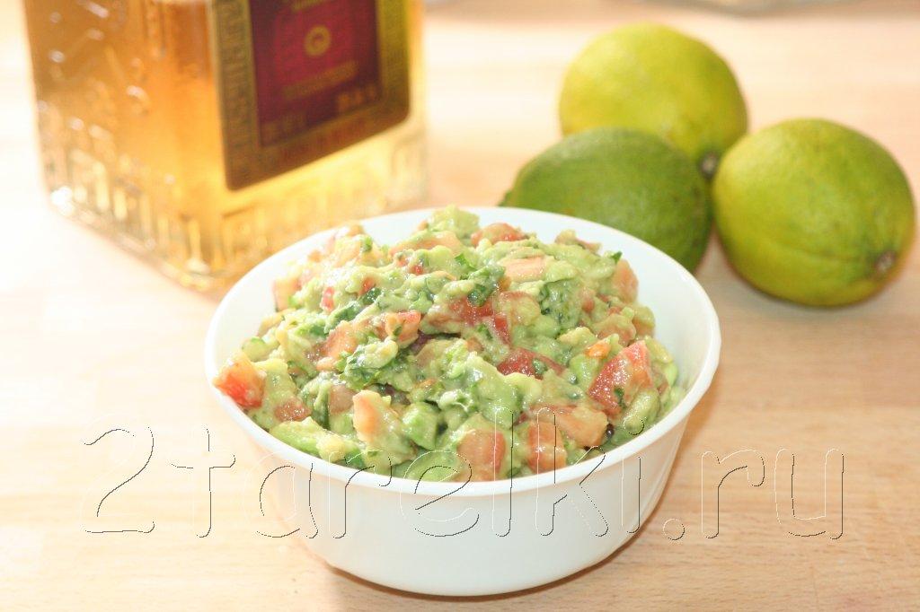 гуакамоле с помидорами