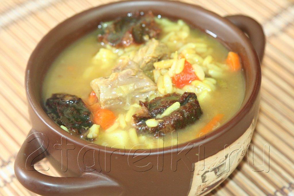 суп из баранины с черносливом