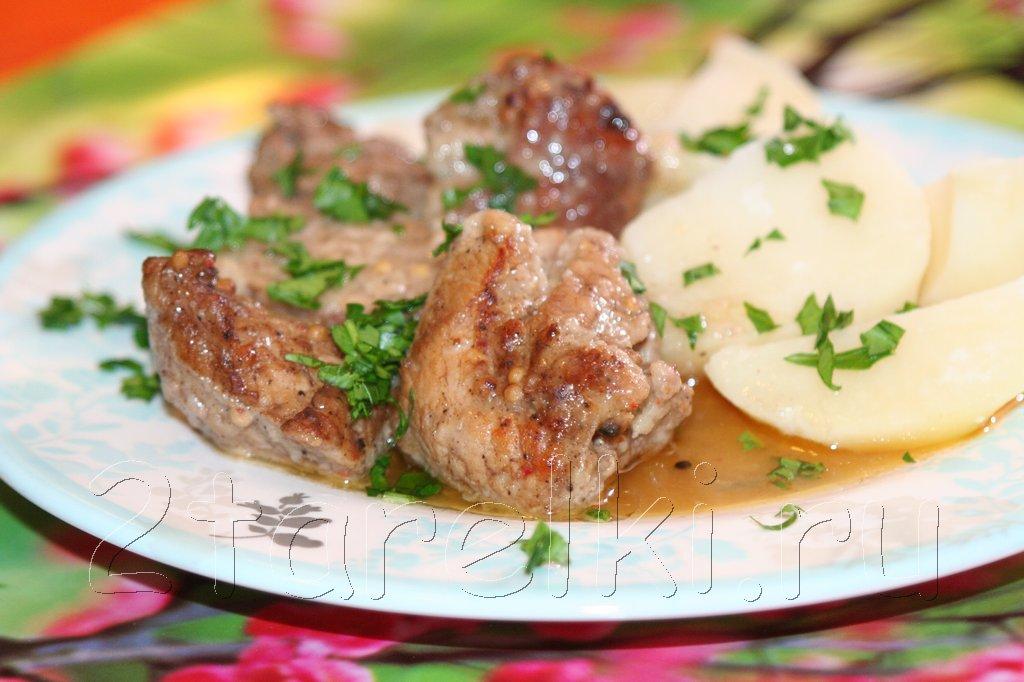 жаркое из свинины в вустерском соусе