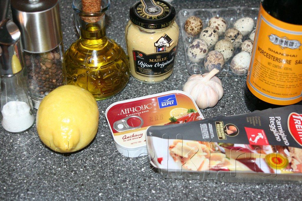 рецепт для соуса к салату цезарь