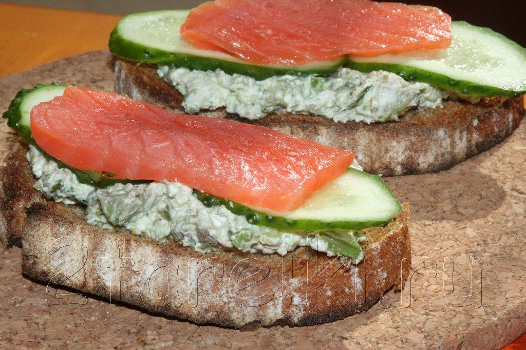 Бутербродики с семгой
