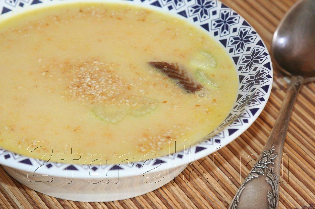Крем-суп с угрем