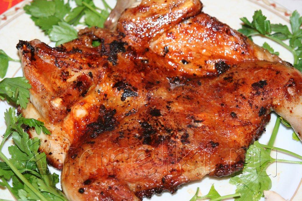 Цыплёнок табака рецепт на сковороде в духовке