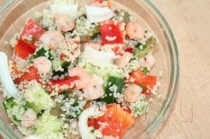 Салат из морепродуктов с кус-кусом
