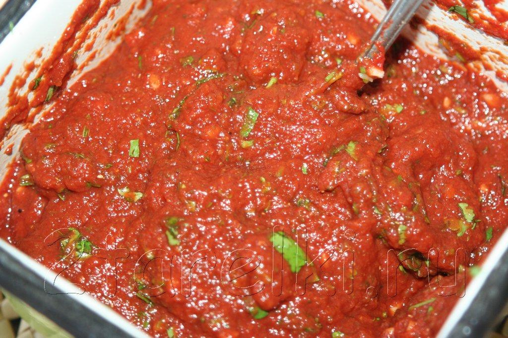 Как сделать соус из томатной пасты к шашлыку