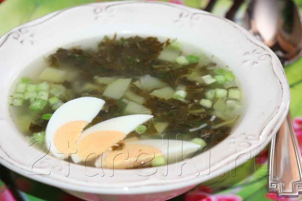 Летний зеленый суп