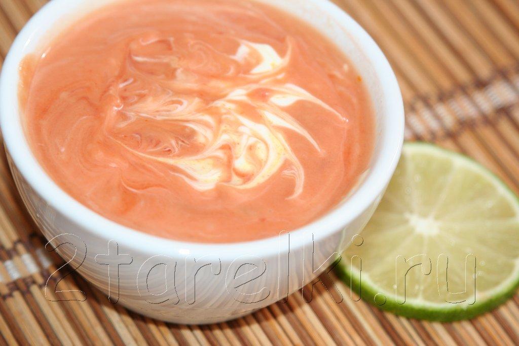 Розовый соус