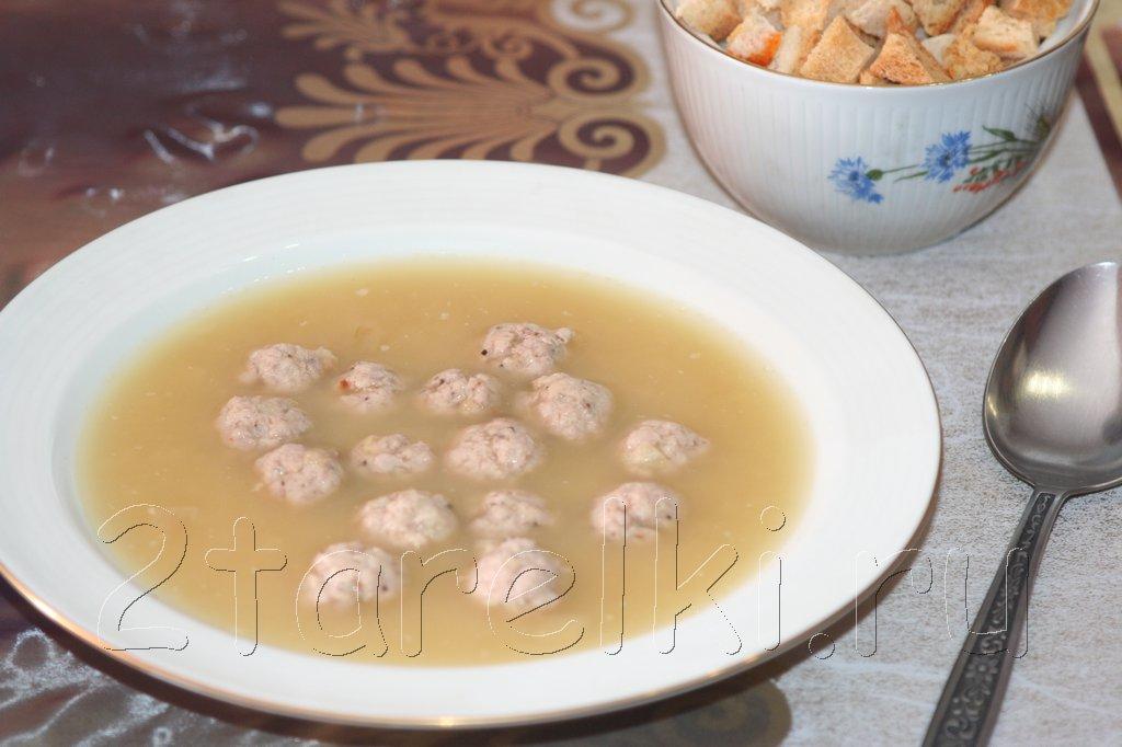 Суп-пюре из чечевицы с фрикадельками