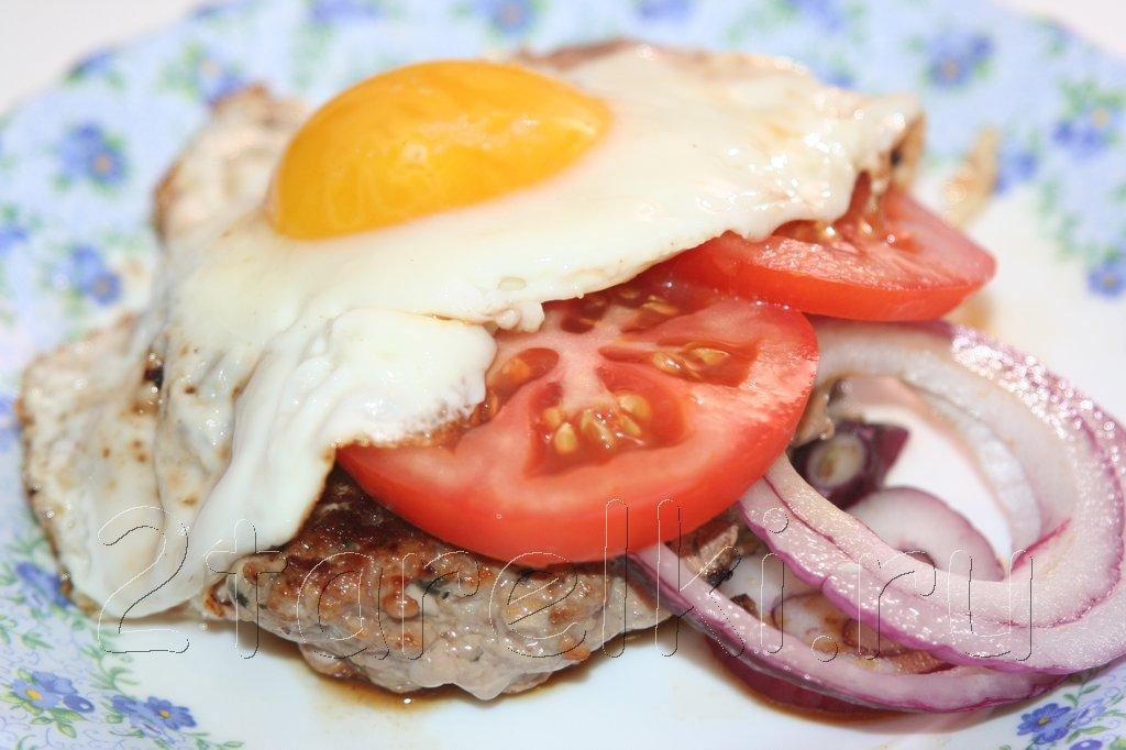 Рубленая котлета с яйцом