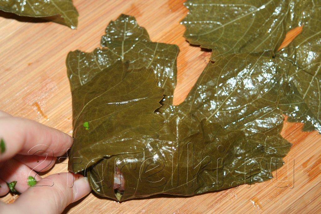 рецепт долмы из виноградных листьев в духовке