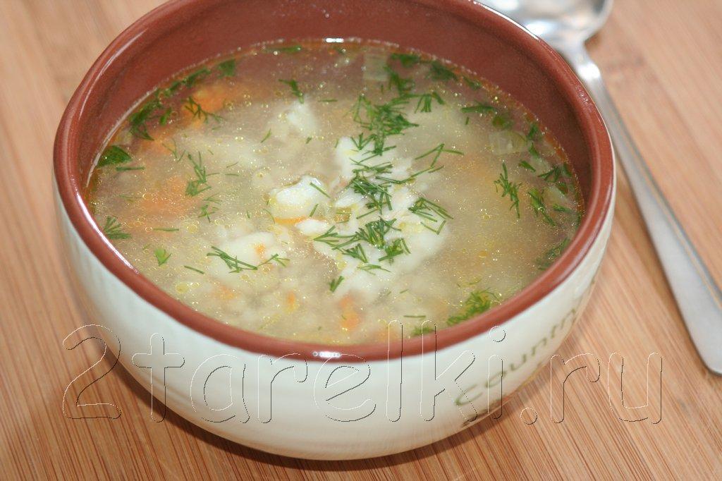 Суп из трески с перловкой